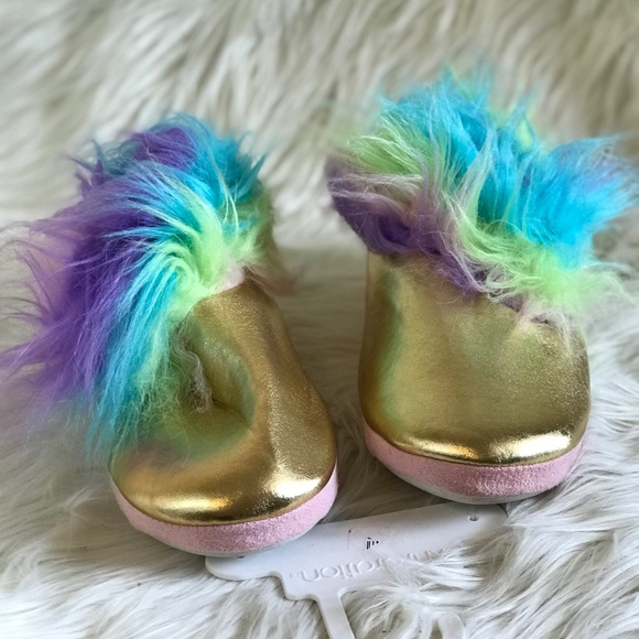 329314ed6dd0 Target unicorn rainbow gold slippers indoor cute